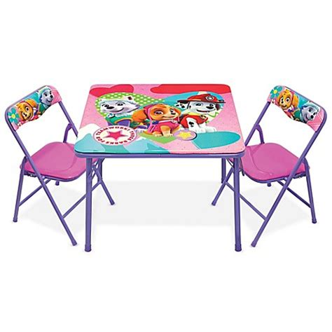 activity table and chairs nickelodeon paw patrol 3 piece activity table and chairs