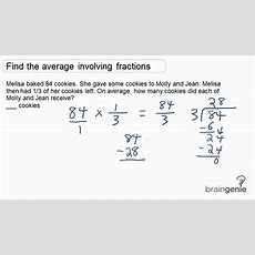 152  Find The Average Involving Fractions Word Problem Youtube