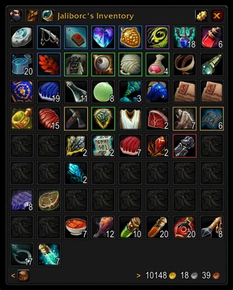 Bagnon  Bags & Inventory  World Of Warcraft Addons Curse
