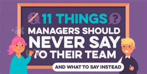 Infographic: What managers should never say to employees ...