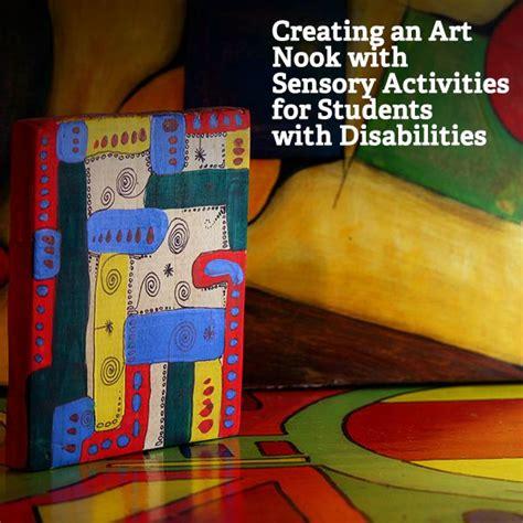 creating  art nook modeling sensory activities