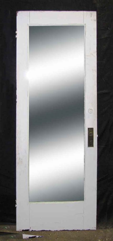 single panel door  full length mirror olde good