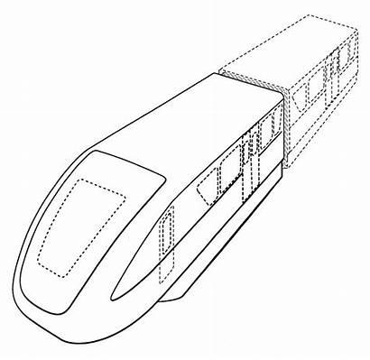 Hyperloop Tesla Ultra Monorail Doors Drawing Patent
