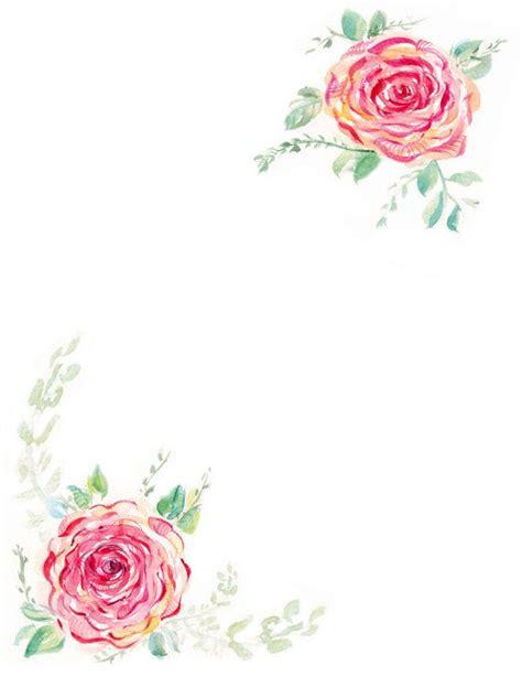 downloadable watercolor rose border etsy watercolor