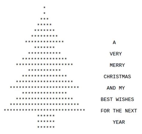 christmas trees in ascii text art holidappy