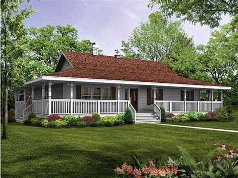 House Plans With Wrap Around Porch Single Story by Rap All The Way Around Porch Single Story Farm House My