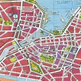 Printable Map of Downtown City Street Map of Geneva ...