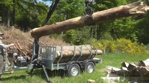 rückewagen mit kran pkw forst anh 228 nger mit 4 m kran feige forsttechnik nr