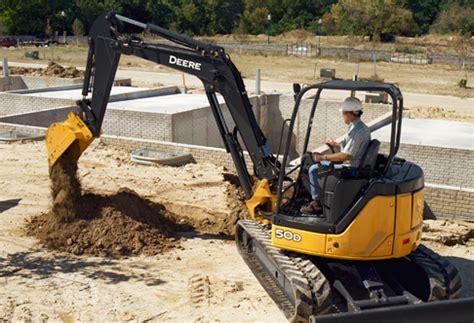 john deere  mini excavator rental rates