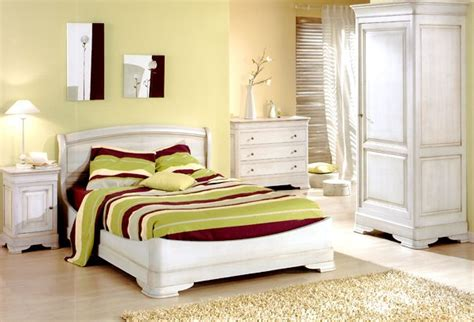 chambre a coucher pour chambre à coucher en chêne massif blanchi photo 4 10