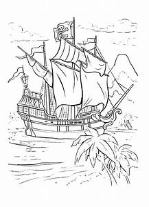 Captain Hook Ship In Peter Pan Coloring Page : Coloring Sky