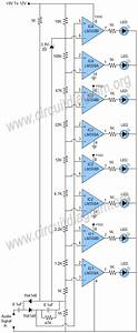 Vu Meter Using Lm358 Ics