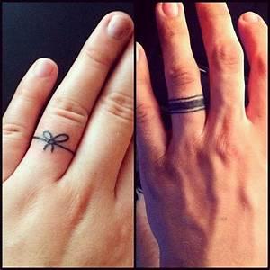 Promise ring tattoo ideas. #tattoos #ringtattoos # ...