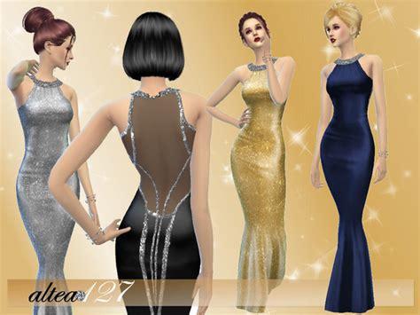 bright night dress  altea  tsr sims  updates