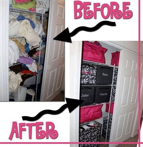 linen closet before and after thirty one bag ideas