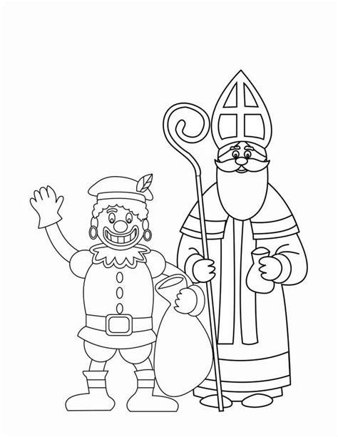 Echte Sinterklaas Kleurplaat by Kleurplaat Zwarte Piet En Sinterklaas 2 Afb 16170 Images