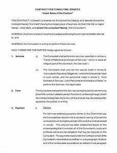 25 consulting agreement samples samples and templates With consultancy contract template