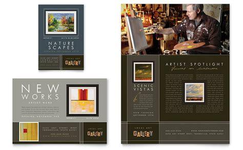 art gallery artist flyer ad template design