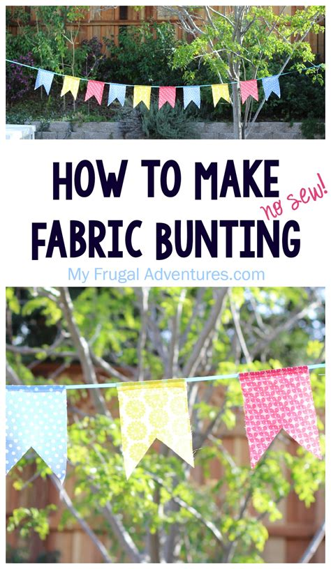 fabric bunting  sew  frugal adventures