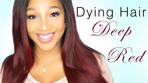 How To Dye Hair Deep Red/ Auburn Color