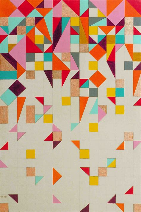 Abstract Geometric Shapes Pattern by Illustration Abstraite G 233 Om 233 Trique Couleurs Vives