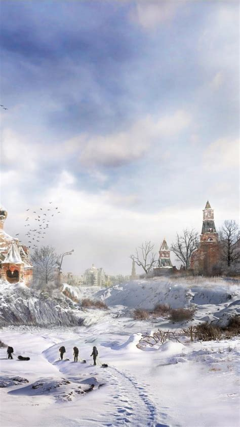 moscow fantasy art nuclear winter wallpaper