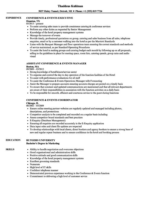conference  resume samples velvet jobs