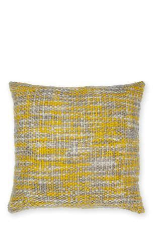 ochre boucle knit cushion knitted cushions pillows