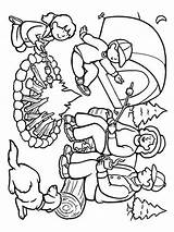 Camping Coloring Mycoloring Nature Printable sketch template