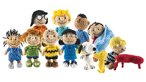 the peanuts is back as a cast of crocheted characters martha stewart