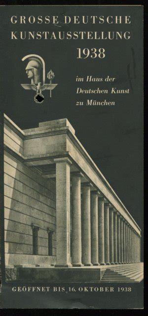 """""""werbezettel Große Deutsche Kunstausstellung 1938 Im Haus"""