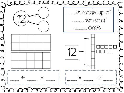 compose and decompose numbers 11 19 freebie kindergarten math pinterest math kindergarten