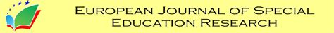 european journal  special education research