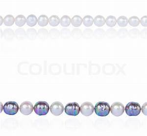 Pearl border | Stock Photo | Colourbox