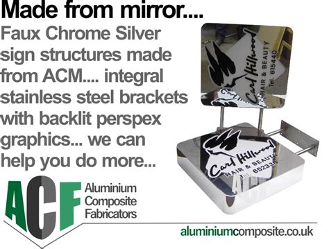mirrored acm panels  affordable safe idea