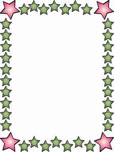 Free Clip Art Borders Stars Kirjoituspapereita Ja