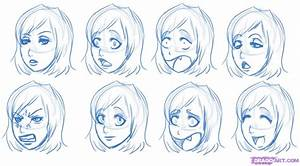 How to Draw Manga Expressions, Step by Step, Anime Heads ...