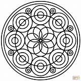 Coloring Mandala Circle Pages Spiral Printable Patterns Mandalas Circular Adults Template Designs Easy Simple Supercoloring Drawing Sun Colouring Pattern Books sketch template