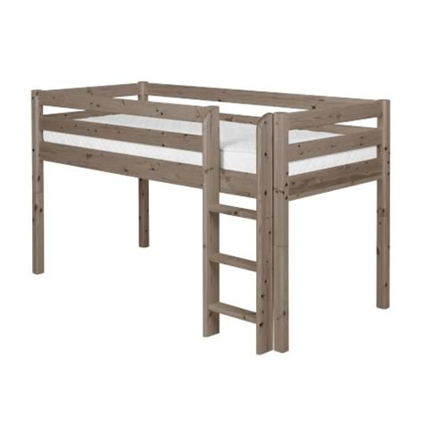 pirate midsleeper loft bed by flexa shown in terra