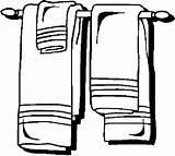 Towel Rack Bathroom Coloring Pages sketch template