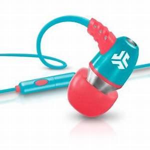 JLab Neon Earbuds w Inline Mic Coral Teal TVs