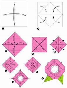 Origami Fleur Coeur D étoile :  ~ Melissatoandfro.com Idées de Décoration