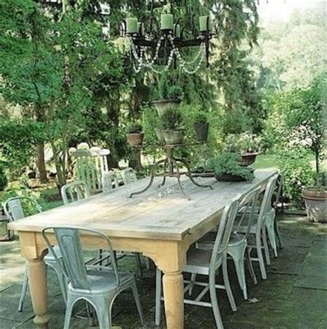 farm table with metal chairs for my kitchen juxtapost