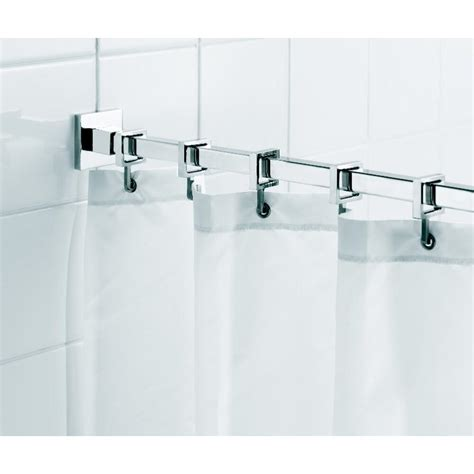 croydex square 98 4 in l luxury shower curtain rod with