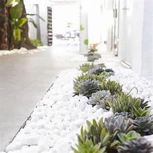 80 ideen wie ein minimalistischer garten aussieht With französischer balkon mit weiße steine für garten