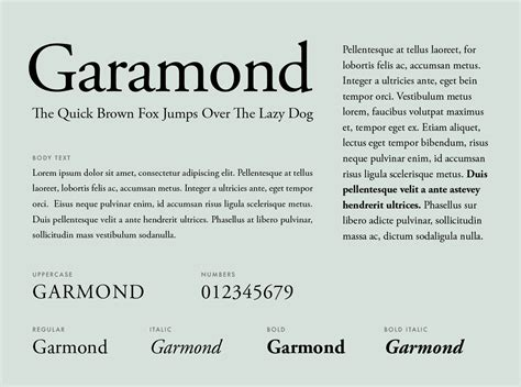 Resume Font by Garamond Font Graphic Pear