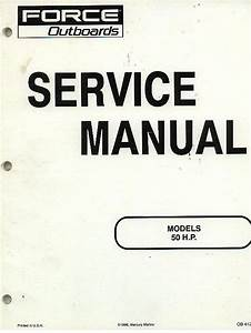 Force Outboards 50hp Outboard Motor Service Manual