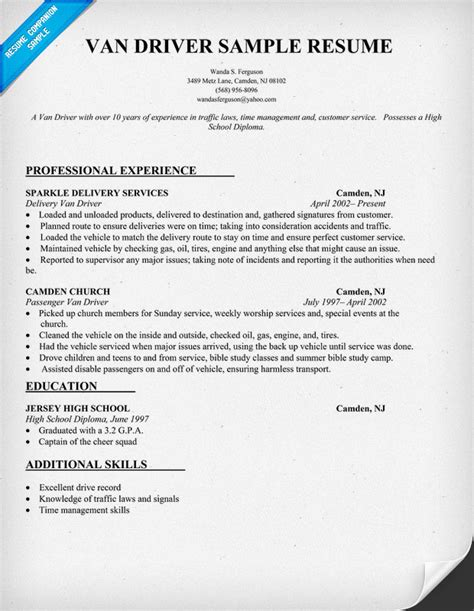 top 8 city driver resume sles in this file you can