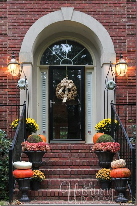 front porch fall decorations fall porch decor with plants and pumpkins unskinny boppy