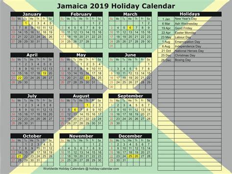 jamaica holiday calendar